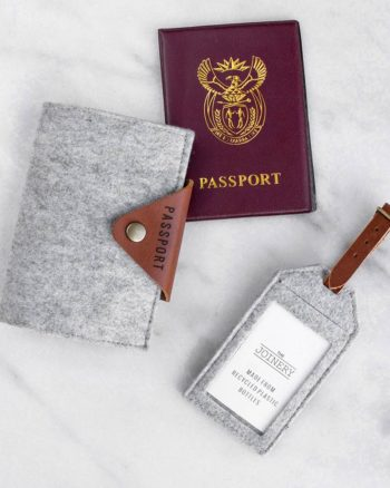 Passport Holder Grey
