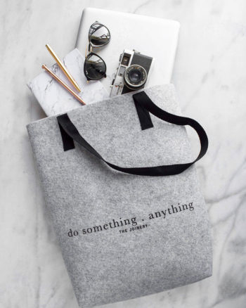 Do Something Tote Grey