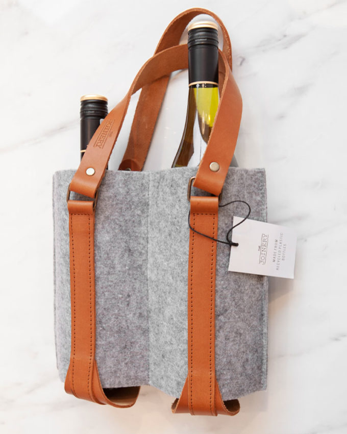 Double Wine Carrier Grey